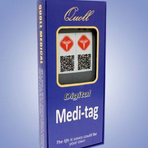 medical square pendant